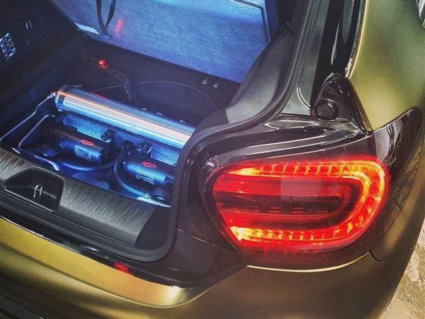 奔驰A250改装气动避震案例 小钢炮的姿态魅力