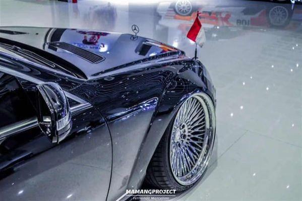 奔驰W221改装气动避震案例 醉美商务风
